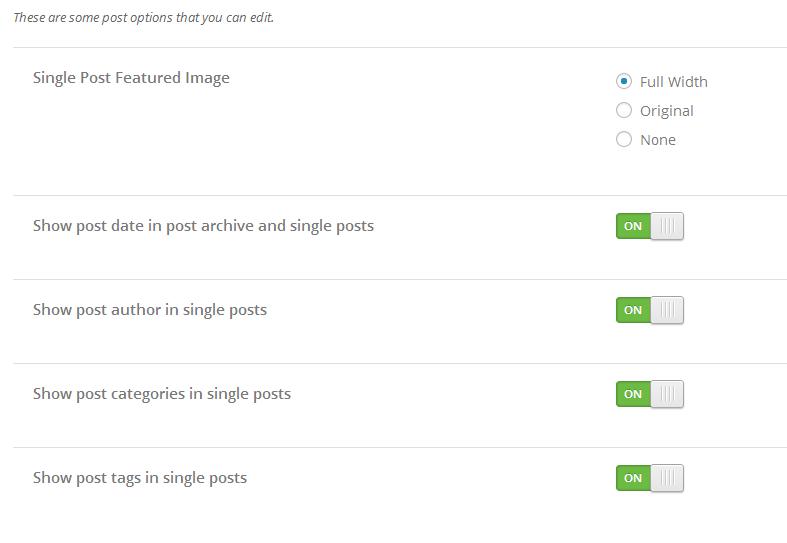 post settings